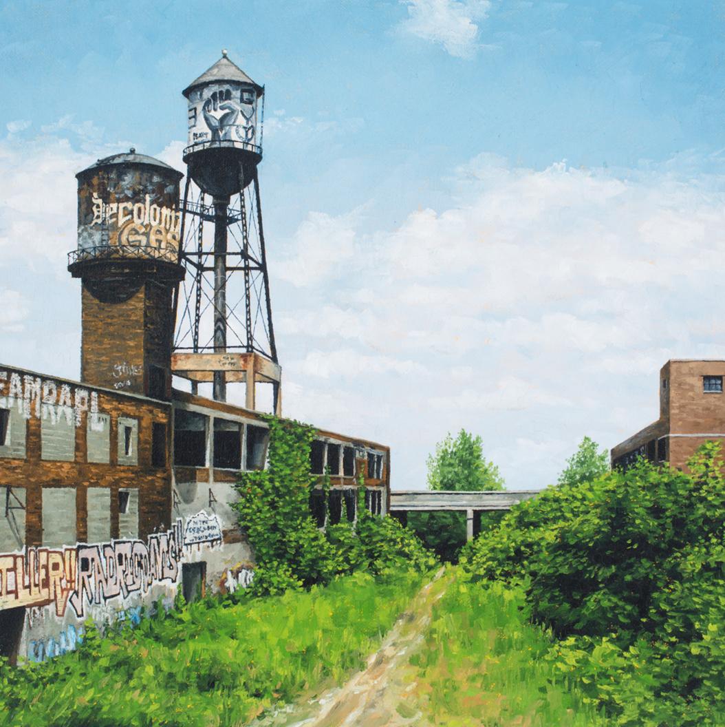 stephanie buer detroit nature urbex - L'artiste Stéphanie Buer peint des lieux abandonnés avec un réalisme stupéfiant