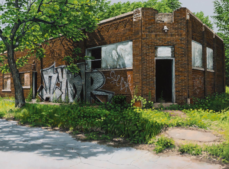 stephanie buer detroit urbex peinture - L'artiste Stéphanie Buer peint des lieux abandonnés avec un réalisme stupéfiant