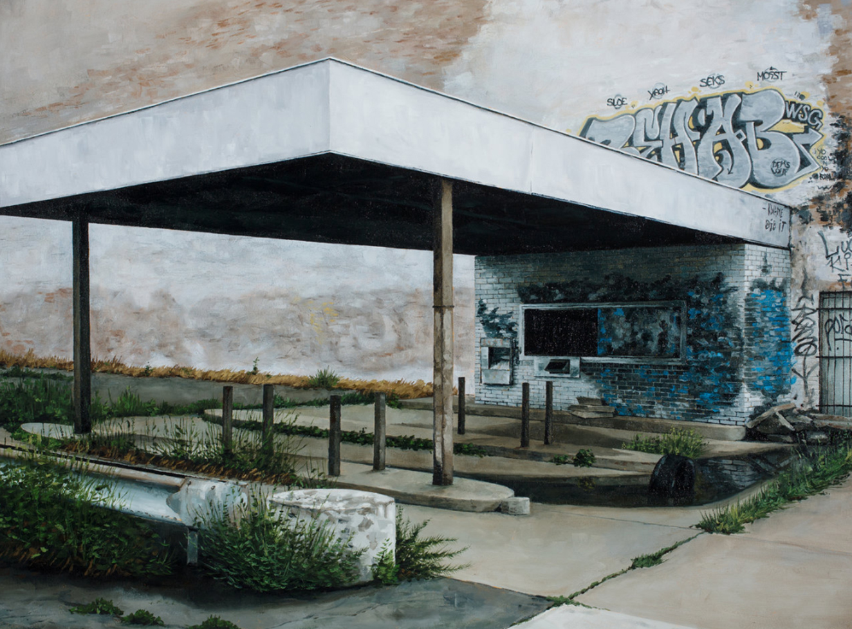 stephanie buer detroit urbex station - L'artiste Stéphanie Buer peint des lieux abandonnés avec un réalisme stupéfiant