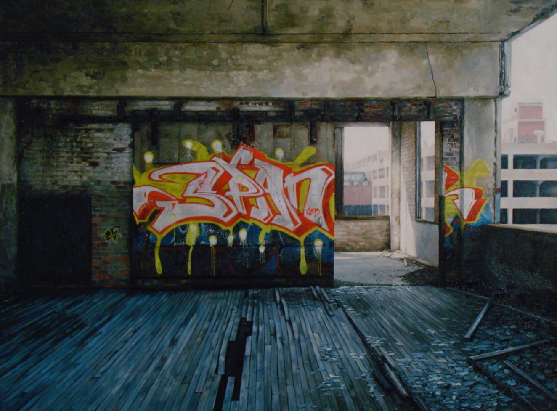 stephanie buer graffiti urbex detroit peinture - L'artiste Stéphanie Buer peint des lieux abandonnés avec un réalisme stupéfiant