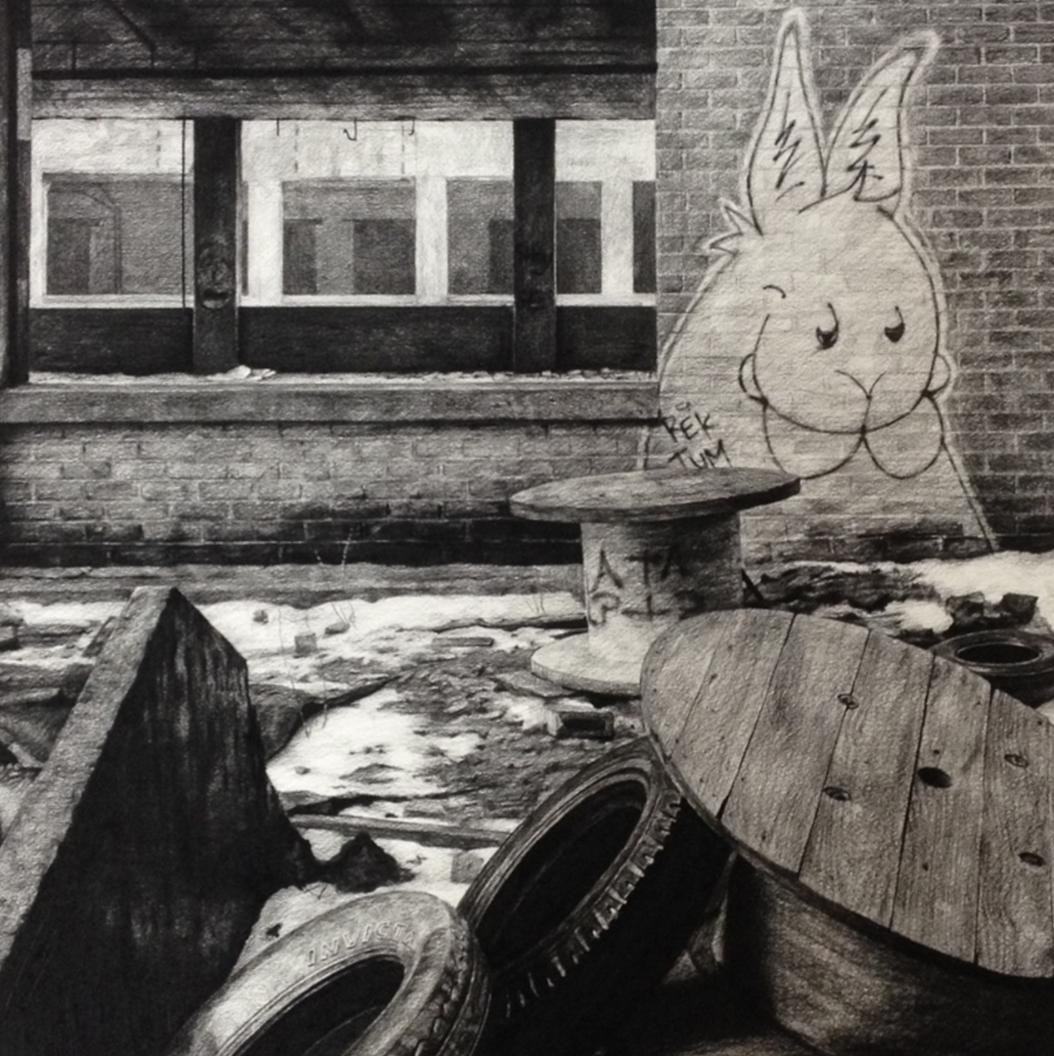 stephanie buer urbex dessin fusain - L'artiste Stéphanie Buer peint des lieux abandonnés avec un réalisme stupéfiant