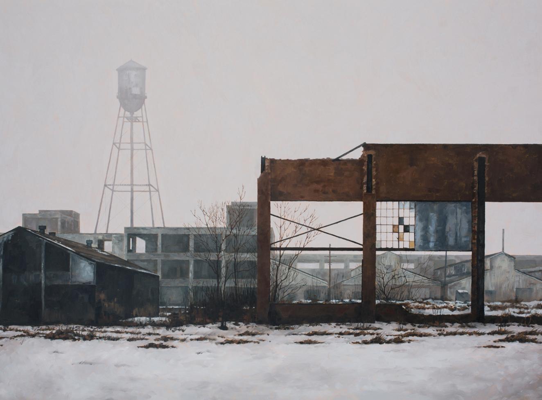 stephanie buer urbex detroit peinture neige - L'artiste Stéphanie Buer peint des lieux abandonnés avec un réalisme stupéfiant