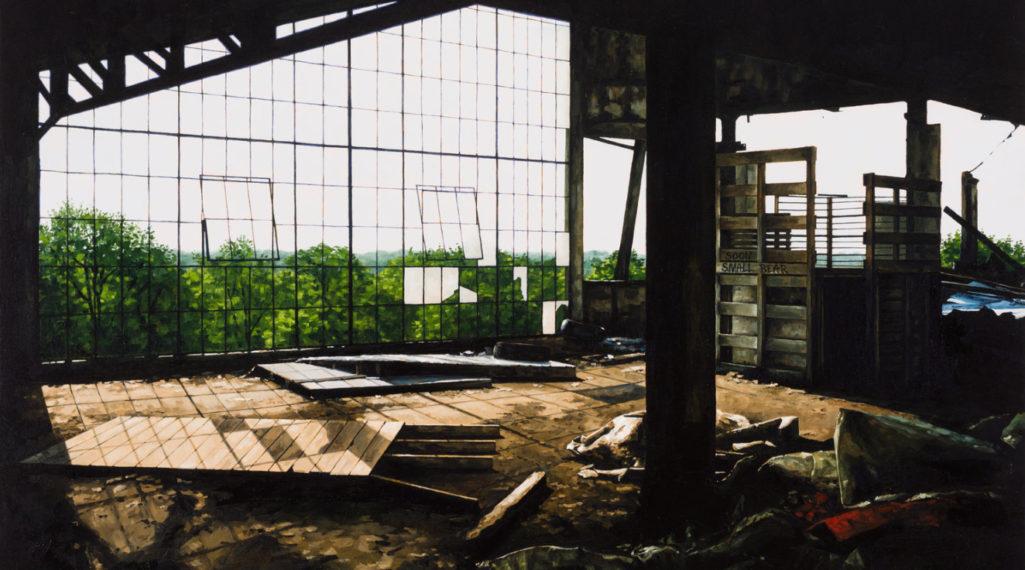 L'artiste Stéphanie Buer peint des lieux abandonnés avec un réalisme stupéfiant