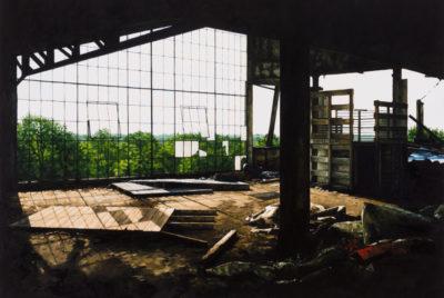 stephanie buer urbex peinture detroit 400x268 - L'artiste Stéphanie Buer peint des lieux abandonnés avec un réalisme stupéfiant