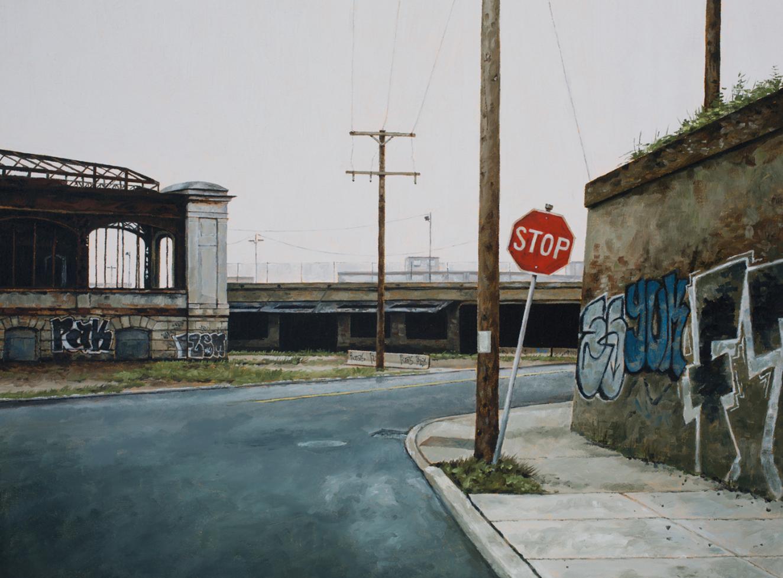 stephanie buer urbex peinture detroit stop - L'artiste Stéphanie Buer peint des lieux abandonnés avec un réalisme stupéfiant