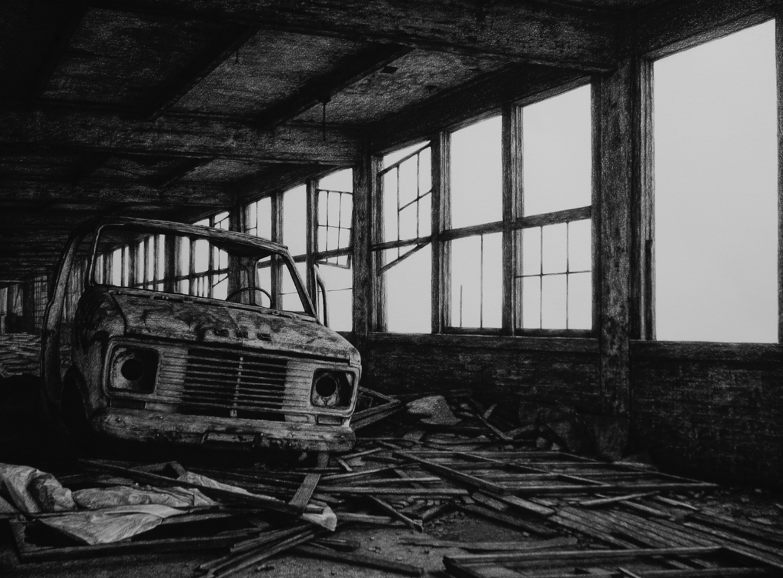 stephanie buer urbex van dessin - L'artiste Stéphanie Buer peint des lieux abandonnés avec un réalisme stupéfiant