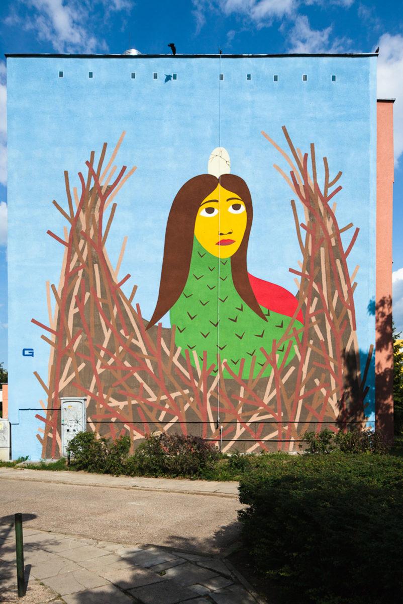 street art gdansk pologne fresque - La plus grande galerie de street art à ciel ouvert est en Pologne !