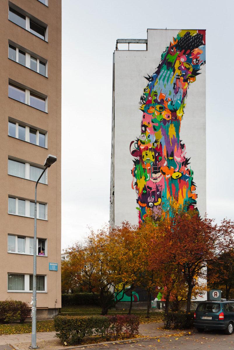 street art pologne gdansk fresque - La plus grande galerie de street art à ciel ouvert est en Pologne !