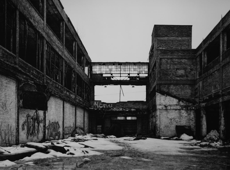 urbex detroit stephanie buer dessin - L'artiste Stéphanie Buer peint des lieux abandonnés avec un réalisme stupéfiant