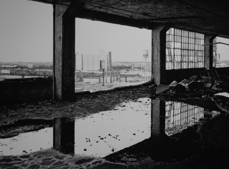 urbex stephanie buer detroit dessin - L'artiste Stéphanie Buer peint des lieux abandonnés avec un réalisme stupéfiant