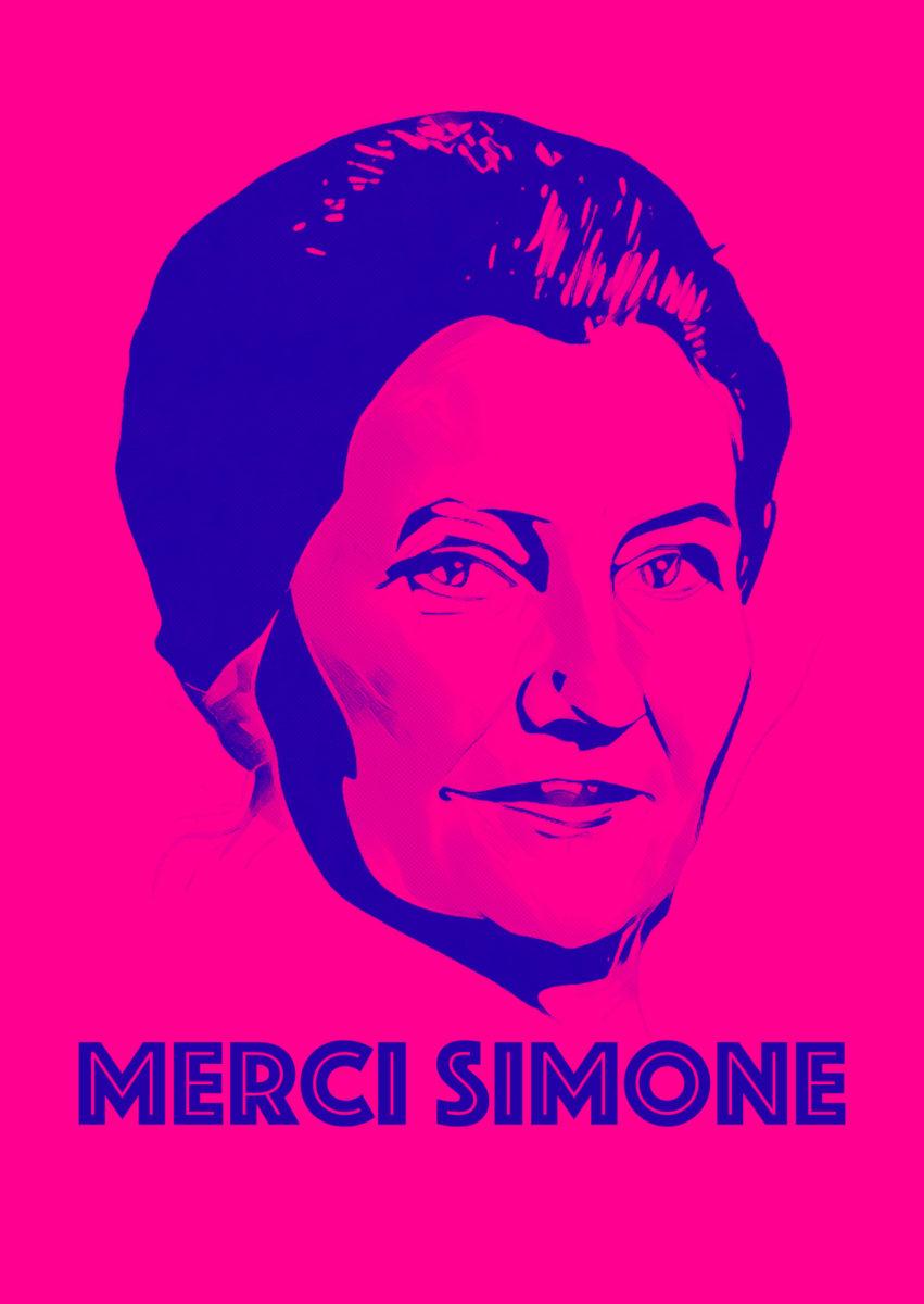 carte postale merci simone collectif - Merci Simone, le collectif qui affiche Simone Veil sur les murs de la ville