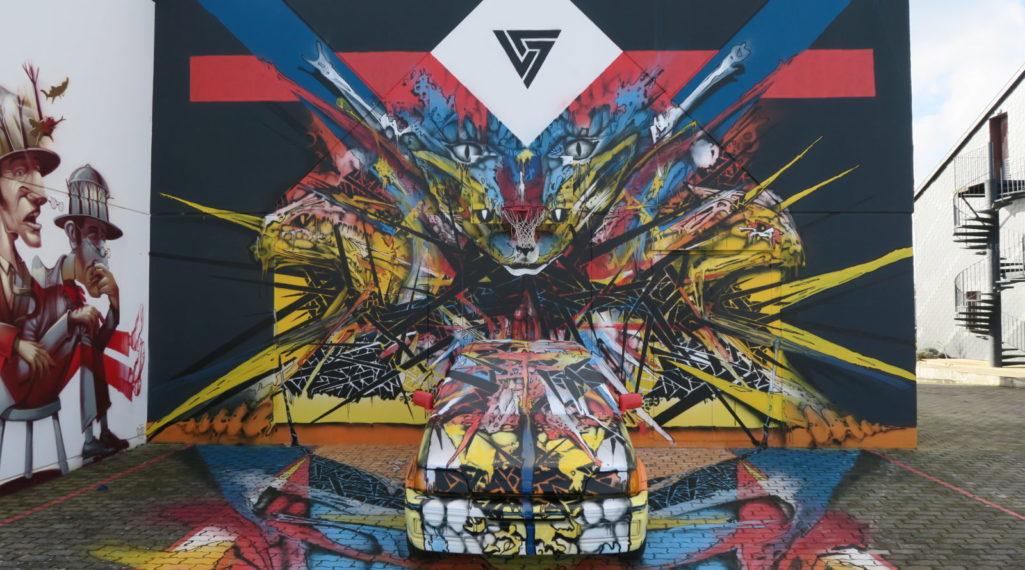 Un collectif transforme un ancien hôtel F1 en une exposition de street art