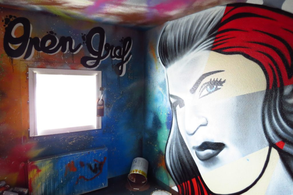 exposition open graf hotel roche sur yon f1 ephemere street art franais visage femme graff SH - Un collectif transforme un ancien hôtel F1 en une exposition de street art