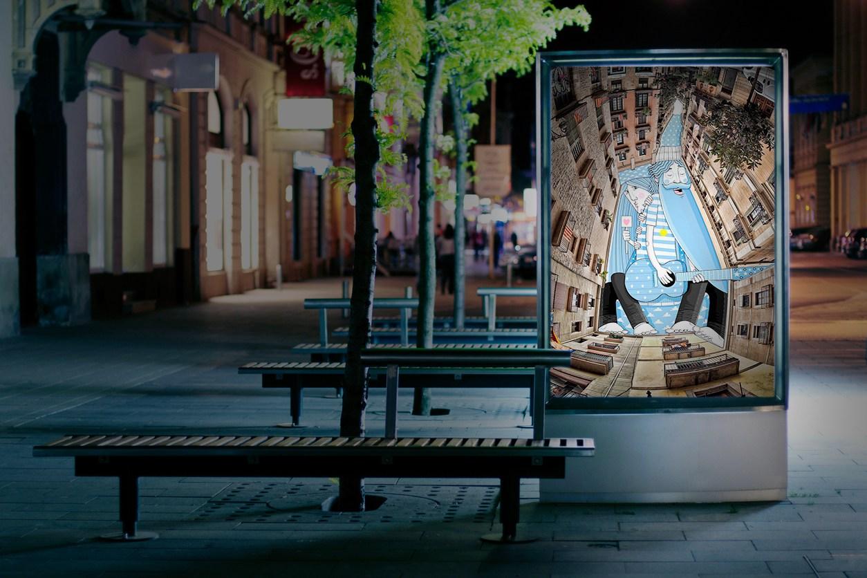 oboem JCdecaux bordeaux affichage pub art ThomasLamadieu - Coup de pouce RADAR x Ulule : Ôboem veut transformer l'affichage publicitaire en galerie d'art