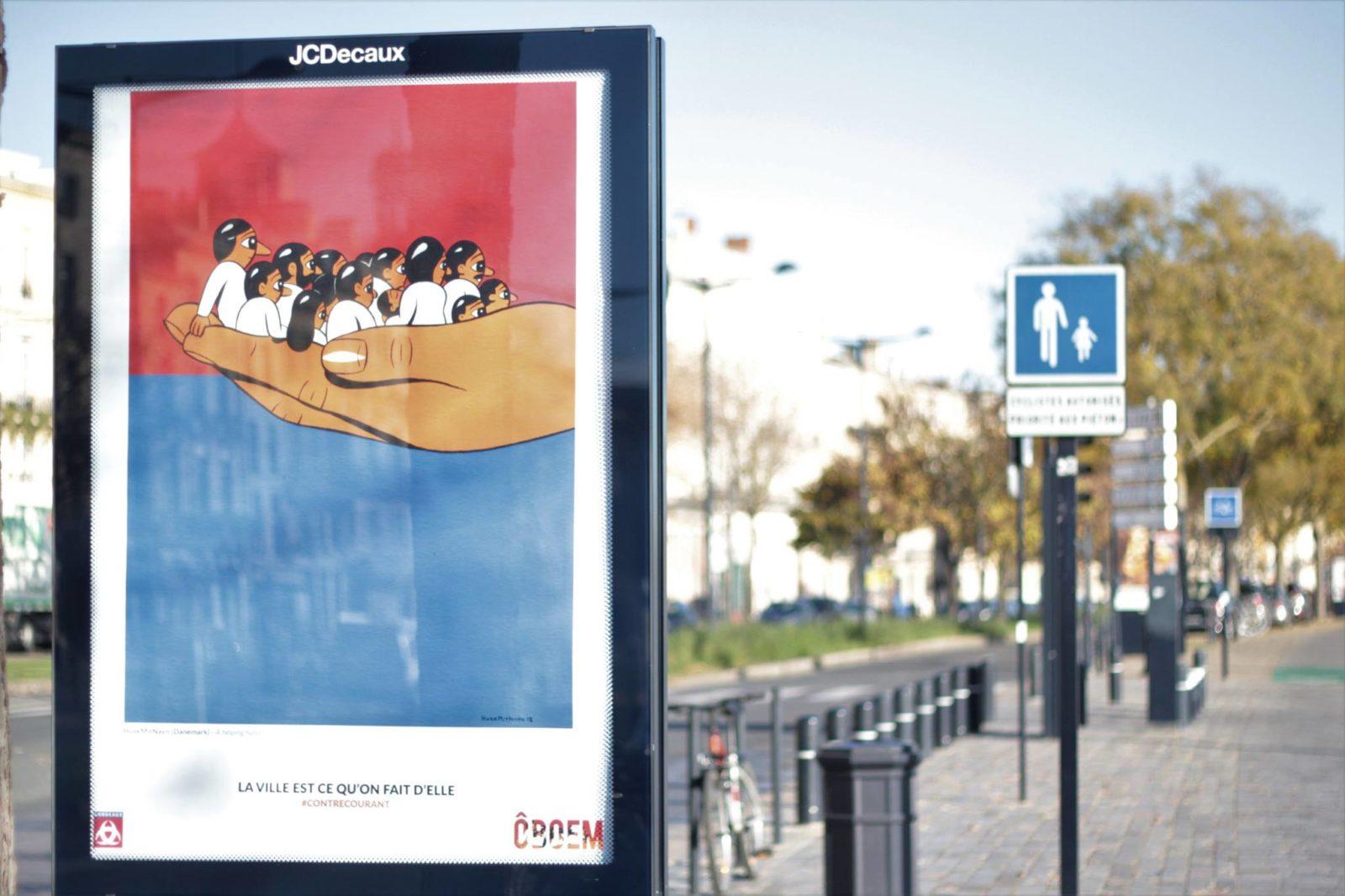 oboem JCdecaux bordeaux affichage pub art - Coup de pouce RADAR x Ulule : Ôboem veut transformer l'affichage publicitaire en galerie d'art
