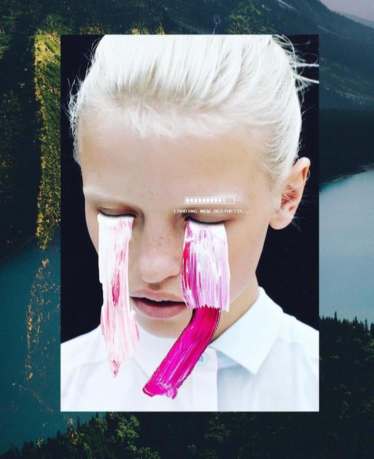 slimesunday larmes peinture collage - Focus sur les effets digitaux et les larmes fluos de Slime Sunday