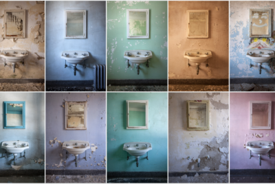 """StevenBley 25mirrors photographie urbex miroir lieux abandonnes lavabo lavabo 400x268 - """"25 Mirrors"""" : une série de photos urbex avec le miroir comme seul sujet"""