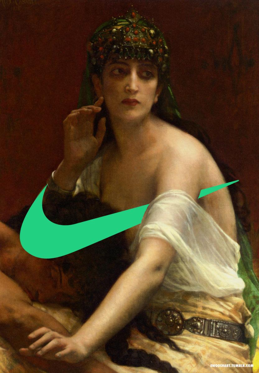davide bedoni art nike detournement - Swoosh Art : Davide Bedoni mixe les peintures du 18e siècle avec le logo de Nike