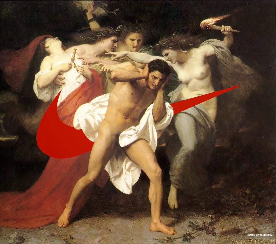 davide bedoni detournement peinture - Swoosh Art : Davide Bedoni mixe les peintures du 18e siècle avec le logo de Nike