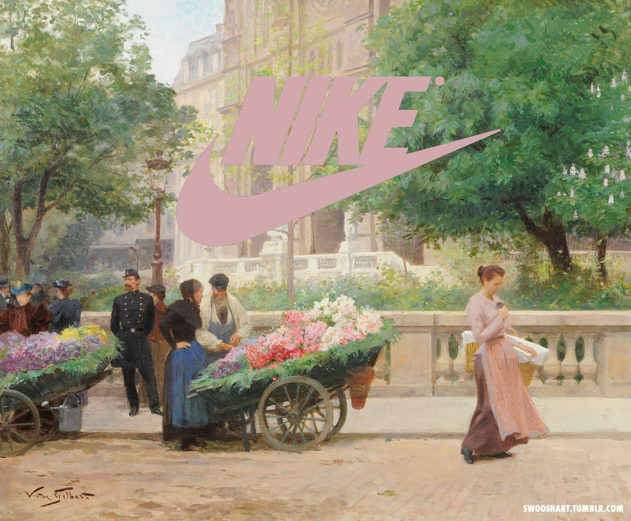 davide bedoni incrustation nike - Swoosh Art : Davide Bedoni mixe les peintures du 18e siècle avec le logo de Nike