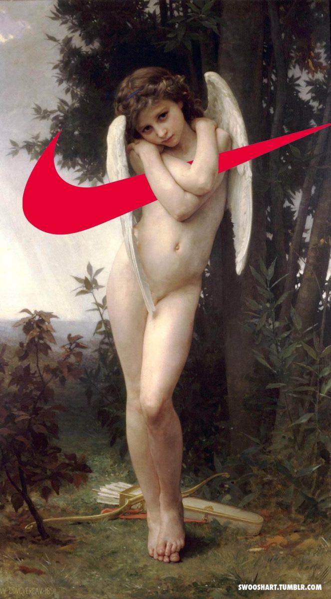davide bedoni nike detournement - Swoosh Art : Davide Bedoni mixe les peintures du 18e siècle avec le logo de Nike