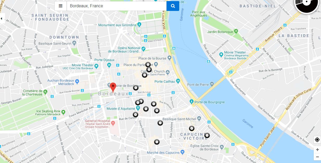 disquaires bordeaux recordstore carte interactive - Recordstores.love, la carte interactive des disquaires du monde entier