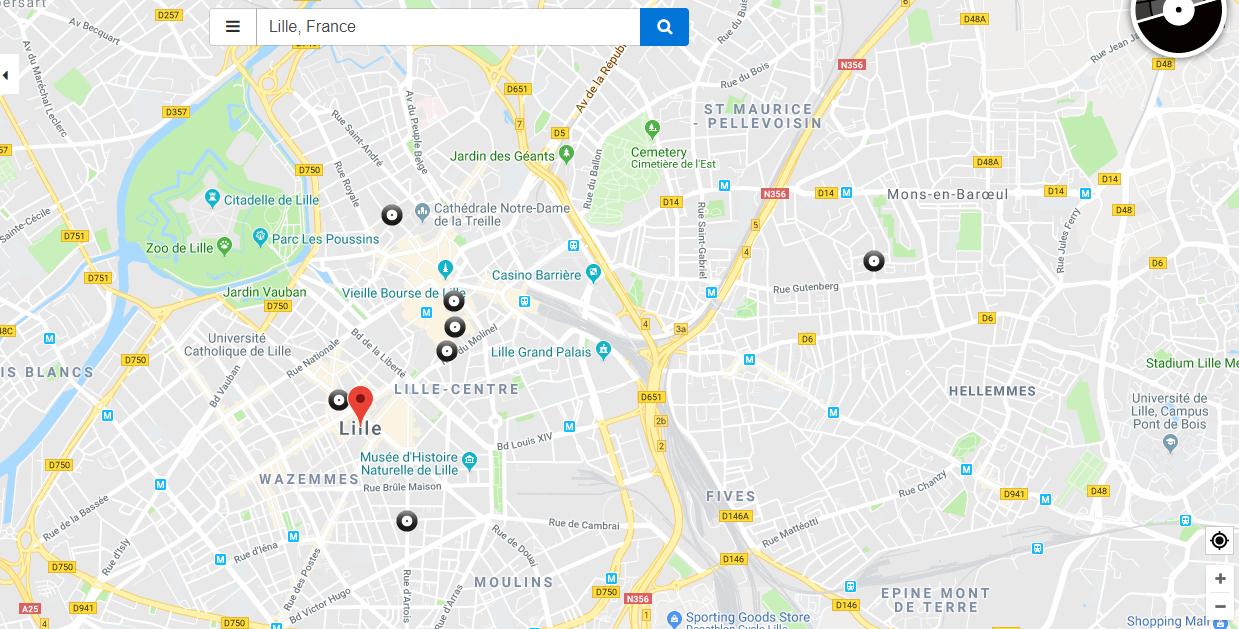 disquaires lille recordstore carte interactive - Recordstores.love, la carte interactive des disquaires du monde entier