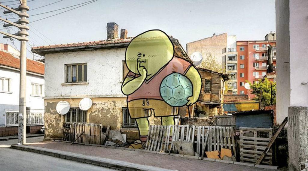 L'illustrateur Hakan Keleş fait entrer des géants dans la ville avec «Lilliput series»