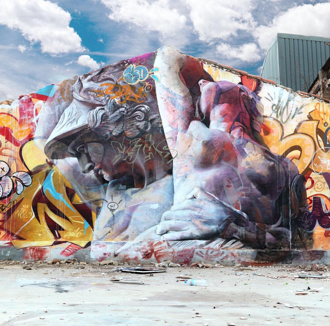 PichiAvo streetart arturbain graffiti muse - PichiAvo, le duo de graffeurs qui réussit à mixer beaux-arts et graffiti