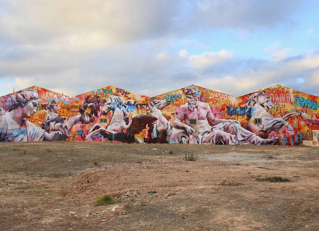 PichiAvo streetart arturbain graffiti - PichiAvo, le duo de graffeurs qui réussit à mixer beaux-arts et graffiti