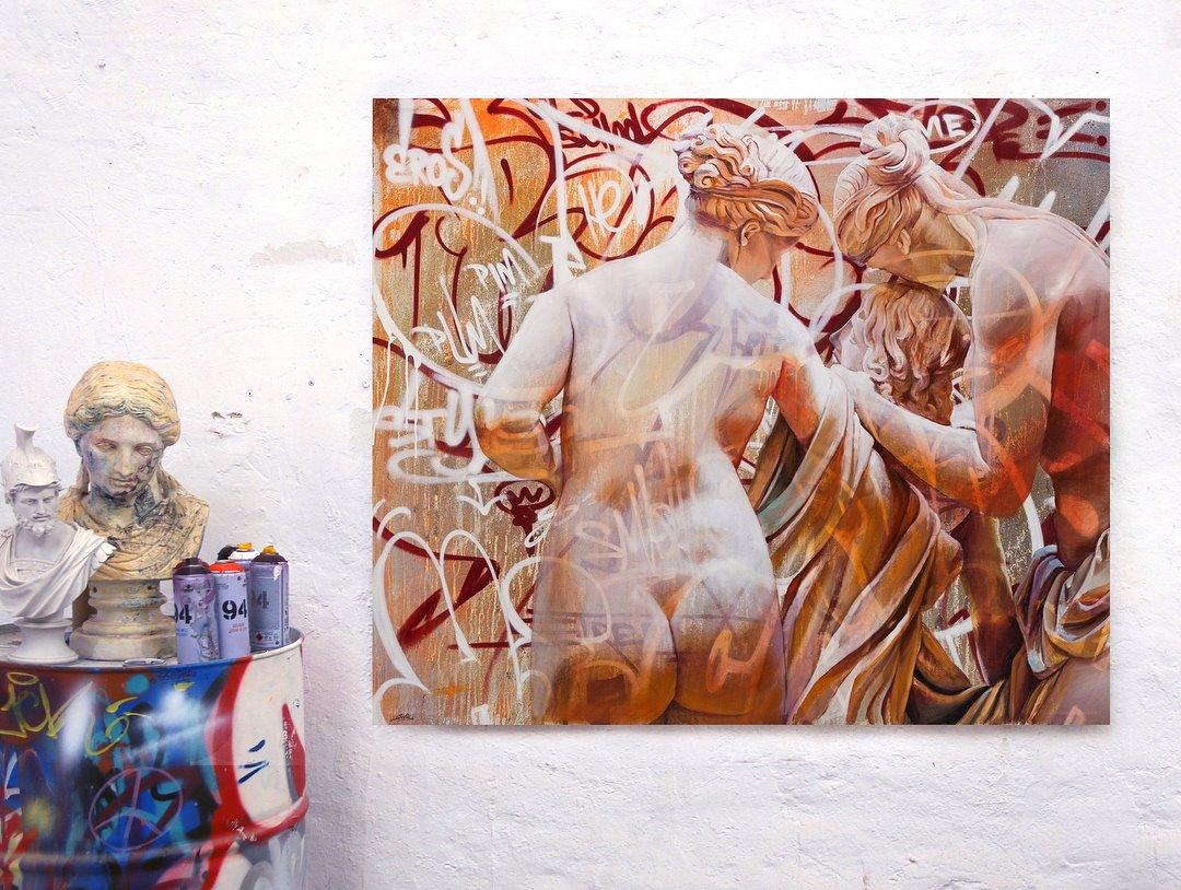 PichiAvo streetart statue - PichiAvo, le duo de graffeurs qui réussit à mixer beaux-arts et graffiti
