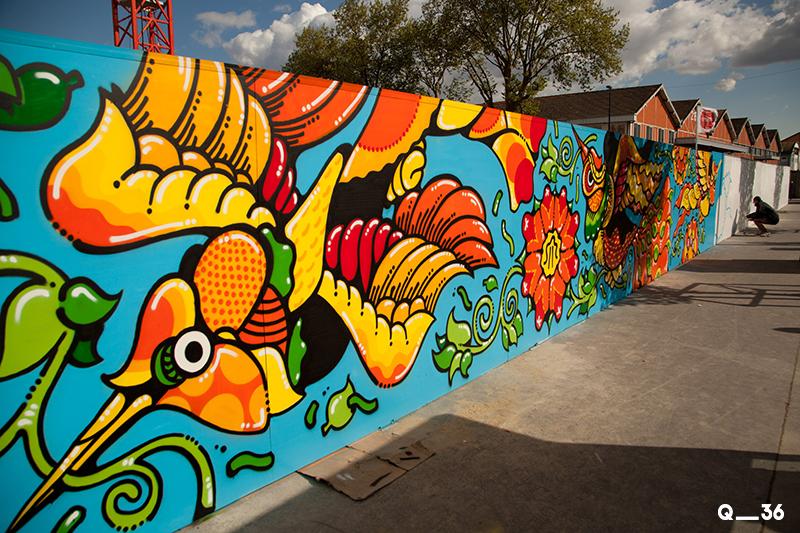 Quai 36 invite des street artistes à colorer halls de gare et palissades de chantiers