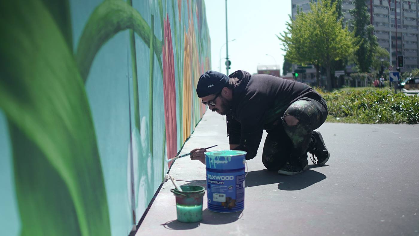 arturbain murales quai 36 Saddo 3 - Quai 36 invite des street artistes à colorer halls de gare et palissades de chantiers