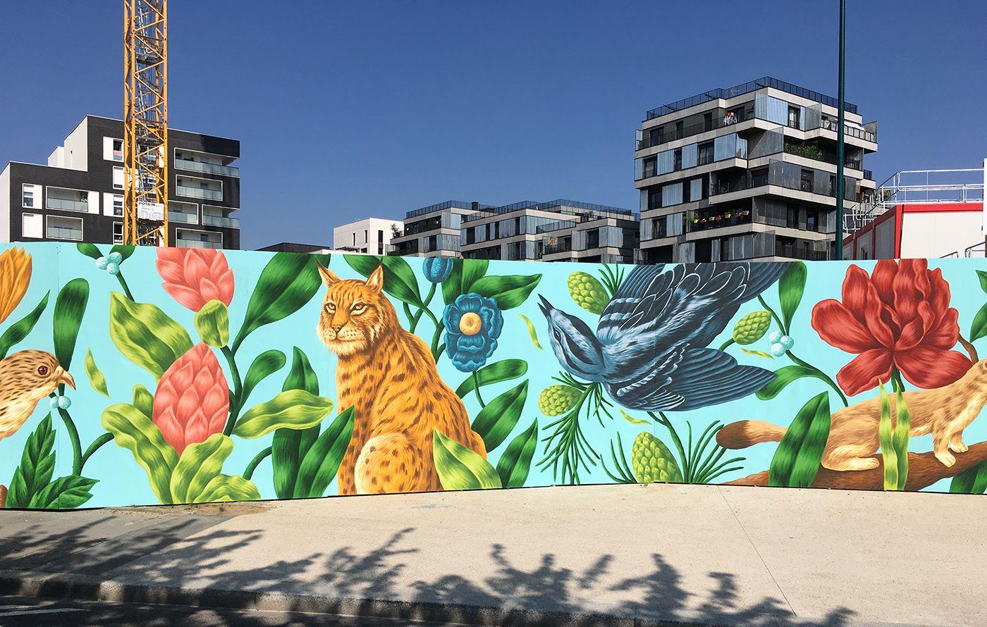 arturbain murales quai 36 Saddo 7 - Quai 36 invite des street artistes à colorer halls de gare et palissades de chantiers