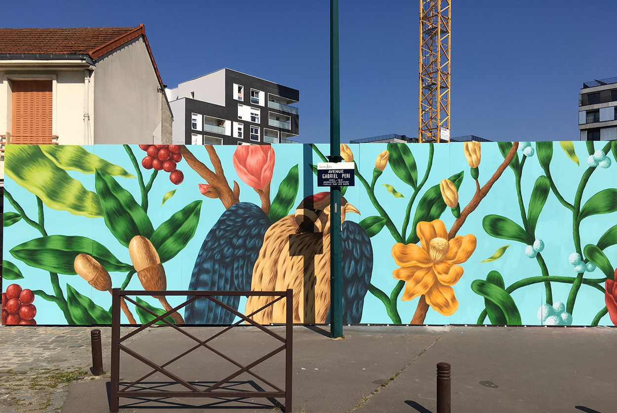 arturbain murales quai 36 Saddo2 - Quai 36 invite des street artistes à colorer halls de gare et palissades de chantiers