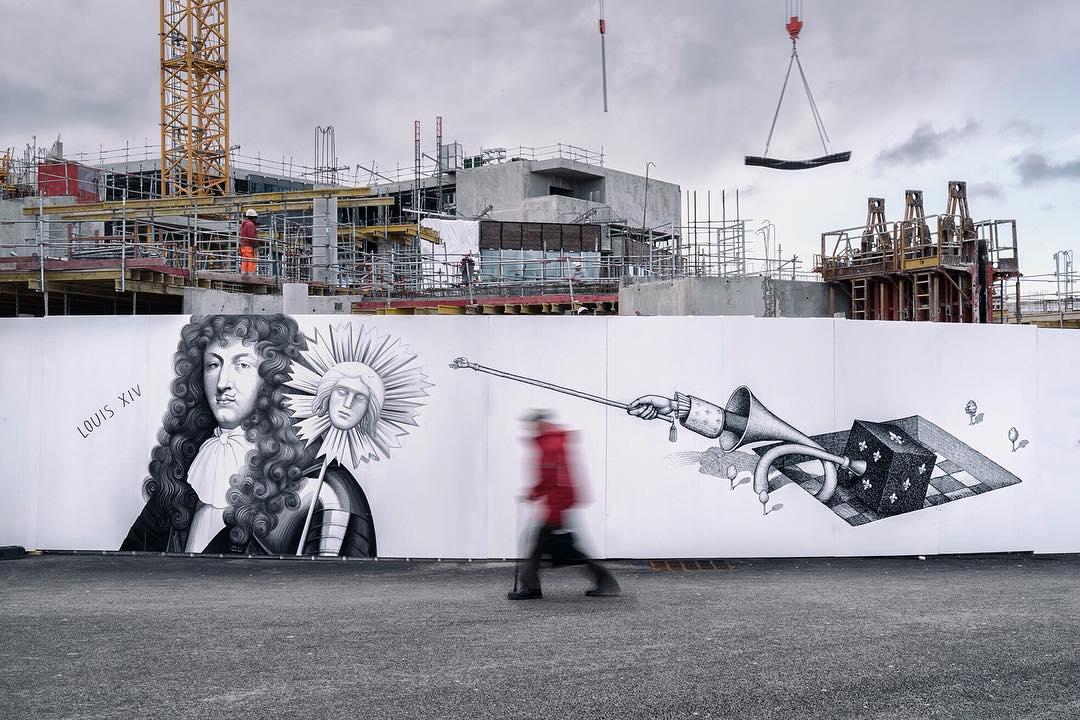 arturbain murales quai 36 Waone Fikos 1 - Quai 36 invite des street artistes à colorer halls de gare et palissades de chantiers