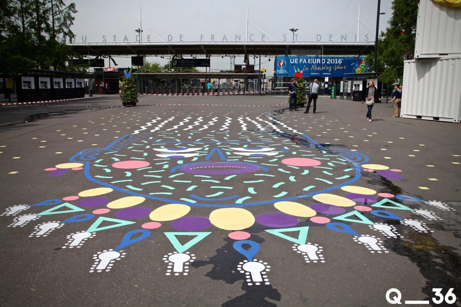 arturbain murales quai 36 kashink euro - Quai 36 invite des street artistes à colorer halls de gare et palissades de chantiers