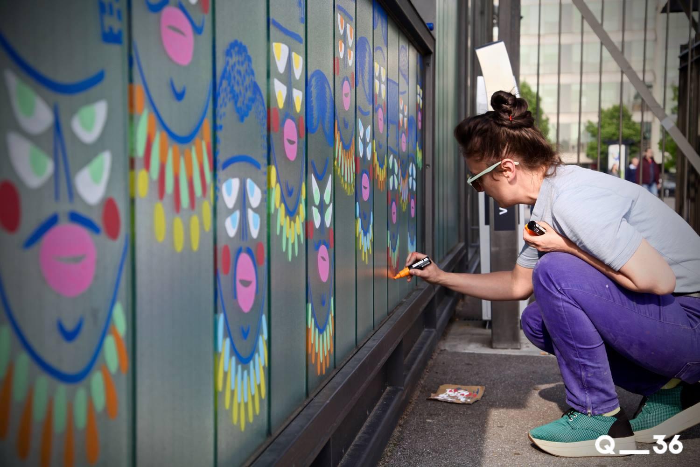 arturbain murales quai 36 kashink - Quai 36 invite des street artistes à colorer halls de gare et palissades de chantiers