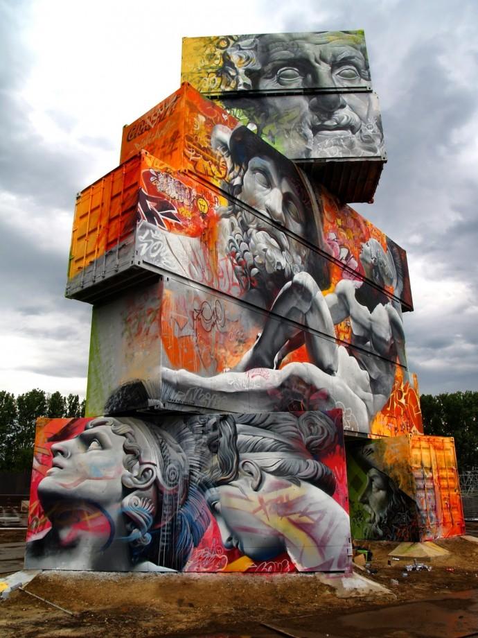 pichiavo container - PichiAvo, le duo de graffeurs qui réussit à mixer beaux-arts et graffiti