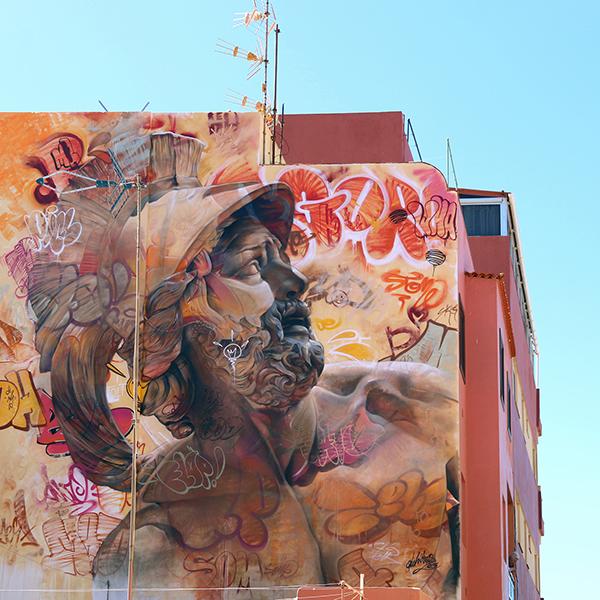 pichiavo pericles - PichiAvo, le duo de graffeurs qui réussit à mixer beaux-arts et graffiti