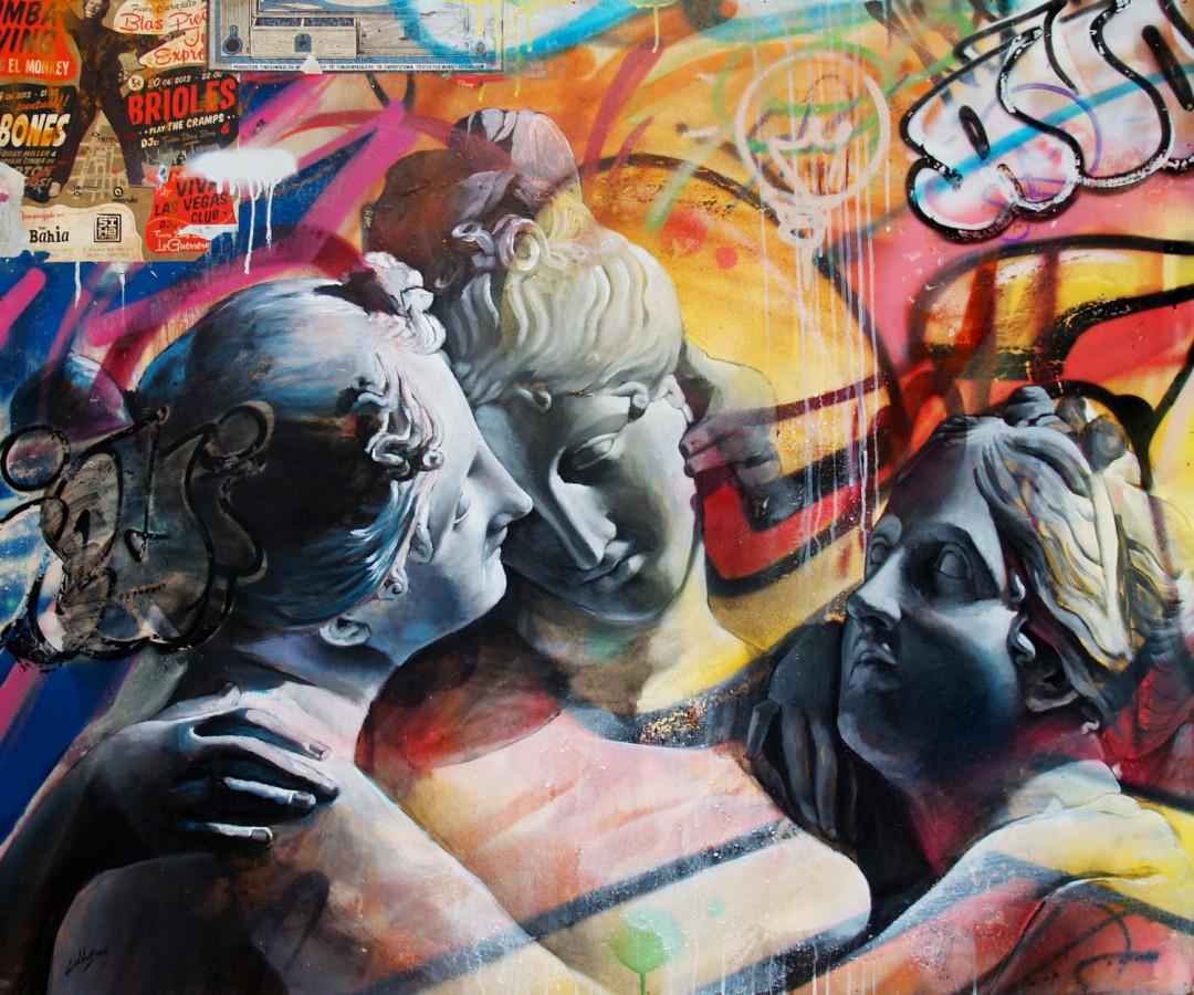 pichiavo threesome - PichiAvo, le duo de graffeurs qui réussit à mixer beaux-arts et graffiti