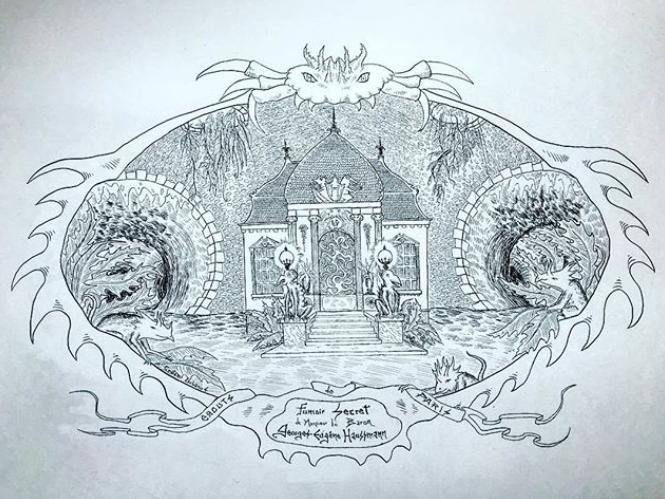 Codex Urbanus Haussmann - Le street artiste Codex Urbanus lâche son bestiaire fantastique au cœur des égouts de Paris