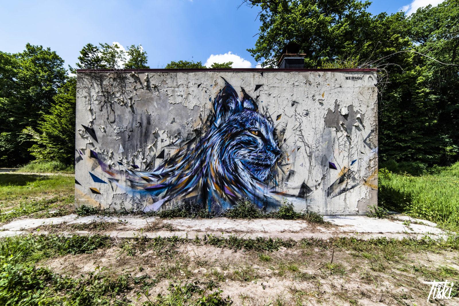 LaBel Valette Fest domaine Mehsos animal lynx - LaBel Valette Fest : l'art et les cultures urbaines font revivre un château abandonné