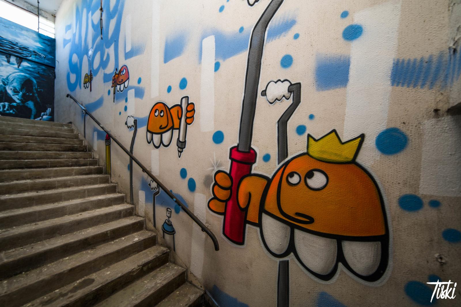LaBel Valette Fest domaine Meushay escalier - LaBel Valette Fest : l'art et les cultures urbaines font revivre un château abandonné