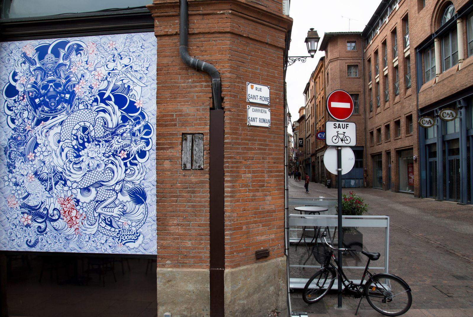 street art festival toulouse 31street oeuvre japonisant rue - #31 street, le festival d'art urbain qui colore la ville rose