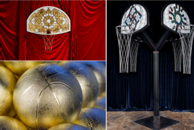 victor solomon exposition art basketball luxe mes 1 400x268 - Literally Balling : le sculpteur Victor Solomon transforme le basket en objet d'art