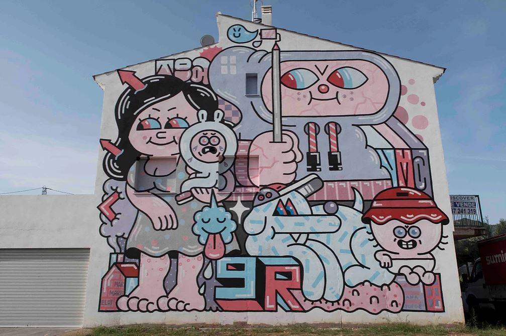 MIAU festival street art murs espagne bande dessine - Où partir cet été ? À la découverte des meilleurs festivals de street art en Europe
