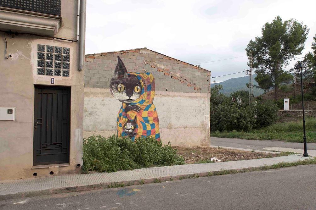 MIAU festival street art murs espagne chat - Où partir cet été ? À la découverte des meilleurs festivals de street art en Europe