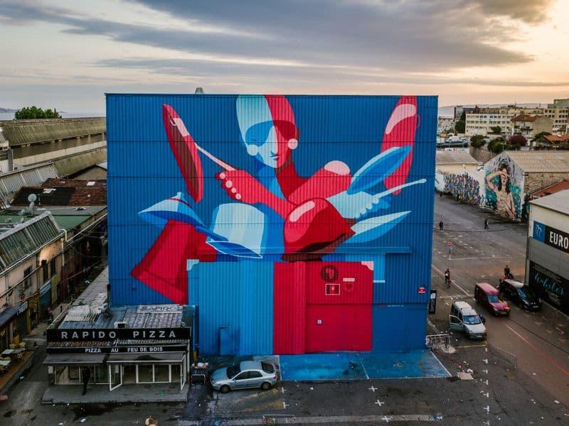 Marseille street art show ville festival Zesar Bahamonte Ipaf Msas copyright photographe Yoshi Yanagita - Où partir cet été ? À la découverte des meilleurs festivals de street art en Europe