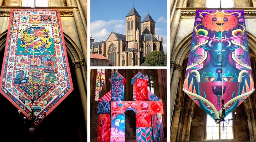 Festival Aérophone : le street art s'approprie l'architecture médiévale